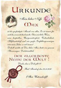 Urkunde Welt Bester Neffe Din A3 F1 Valentinstag Geburtstag Ebay