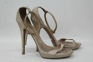 BURBERRY-Ladies-Nude-Python-Leather-High-Heel-Open-Toe-Sandals-Shoes-EU40-UK7