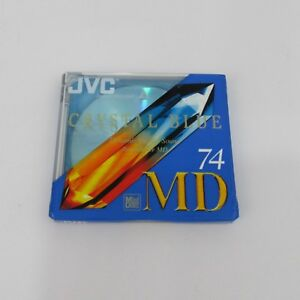Brand-New-Sealed-Recordable-MiniDisc-MD-74-JVC-Crystal-Blue