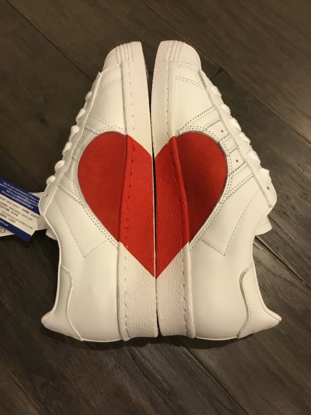Adidas Superstars Shell toes Heart shoes Sneakers New CQ3009 Women's Size 7
