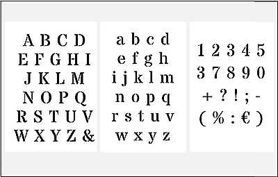Wand//Mal//Textil//Stencils Schablonen ● verschiedende Motive Buchstaben Zahlen