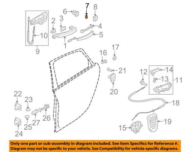 Audi Oem 09 12 A4 Quattro Front Door Magnet 8t0837343 Ebay