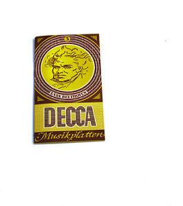 k105 3 Seien Sie In Geldangelegenheiten Schlau Schallplatten Parade Decca Platten Nummern Katalog Klassik Nr