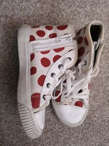 Burberry-Filles-Rouge-Blanc-Pois-Baskets-BURBERRY-pointure-30