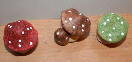 Hongos cerámica hongos 3 sustituir 4,3 cm hasta 5,2 cm h dif motivos decoración bricolaje