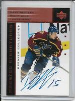 03-04 UD Premier Collection Dany Heatley Bronze Signatures