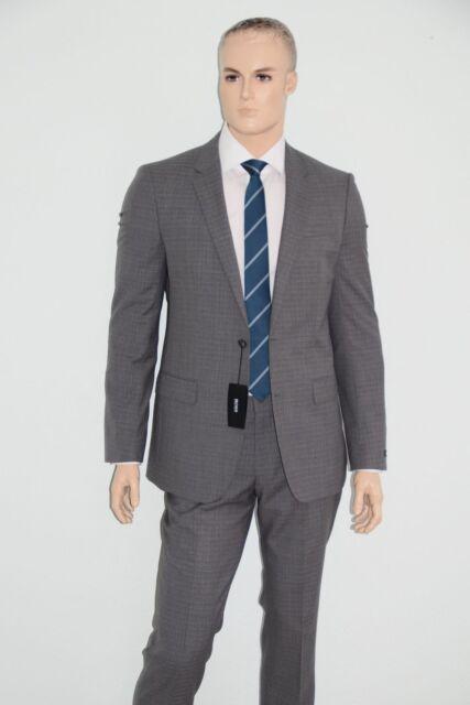 HUGO BOSS ANZUG, Mod. Huge3/Genius2, Gr. 98, Slim Fit, Medium Grey