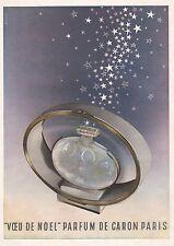 Publicité Parfum Caron perfume  photo vintage print ad  1949 - 7i
