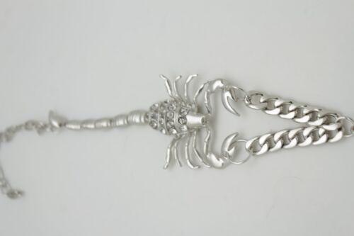 Western Fashion Boot Bracelet Chain Silver Metal Big Scorpion Shoe Weekend Charm