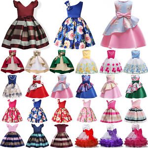Flower-Girls-Dresses-Princess-Kids-Baby-Pageant-Party-Wedding-Tutu-Dress-Gown