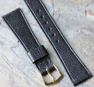 Short-textured-Goatskin-17-3mm-11-16-tapered-vintage-watch-strap-NOS-1960s-70s