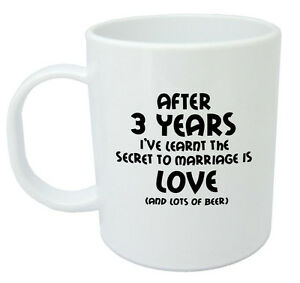 After 3 Years Ive Learnt Mug 3rd Wedding Anniversary Gifts For Men