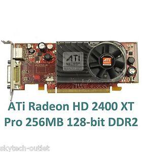ATI Radeon HD2400XT Pro 256MB 128-bit pci express DDR2 x16 DMS-59 s-vidéo tv-out