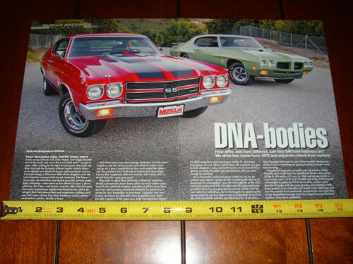 1970 CHEVELLE SS 396 vs. 1970 PONTIAC GTO ORIGINAL 2011 ARTICLE