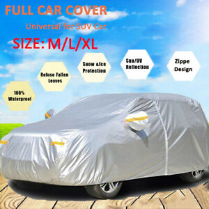 Sedan Car Cover Snow Cover Waterproof Protection From Snow Rain Dust Sun UV XL