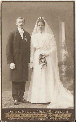 CDV photo Schönes Hochzeitsbild - Malmö um 1910