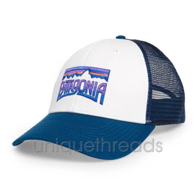 Patagonia Fitz Roy Frostbite Blue White Baseball Cap Snapback Mesh Trucker  Hat 45db9b518ed