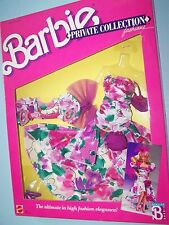 #1943 BARBIE PRIVATE COLLECTION FASHION  (c)1988 - Large flower print gown