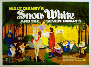 Snow White And The Seven Dwarfs 1937 Walt Disney Uk Quad Poster Ebay