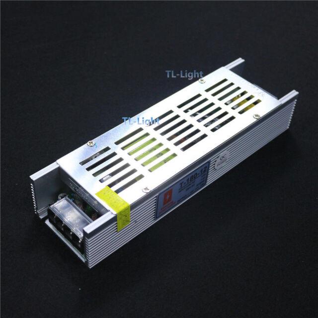 12V 15A 180W Slim Power Supply AC DC Adapter For LED Strip CCTV 110V 220V #2