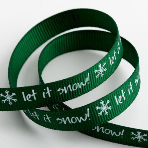 Full Reel io Grosgrain Satin Christmas Ribbon Crafts Tying Hair Cards 5 Metre