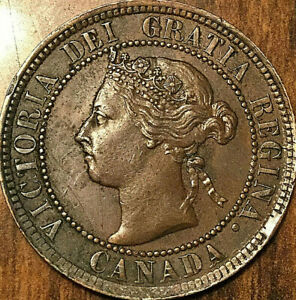 1893-CANADA-LARGE-CENT-PENNY-1-CENT-Fantastic-example
