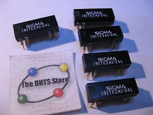 Sigma-191TE2A1-24L-24VDC-Coil-DIP-Reed-Relay-Switch-24V-NOS-Qty-5