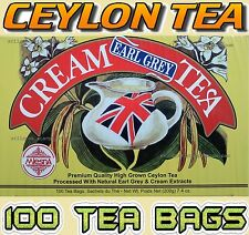 CEYLON TEA - MLESNA EARL GREY CREAM TEA - 100 TEA BAGS NATURAL EARL GREY & CREAM