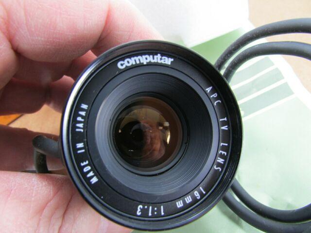 New Computar 16MM F1.3 TV Lens APC CCTV Security Camera Surveillance MCA1613APC