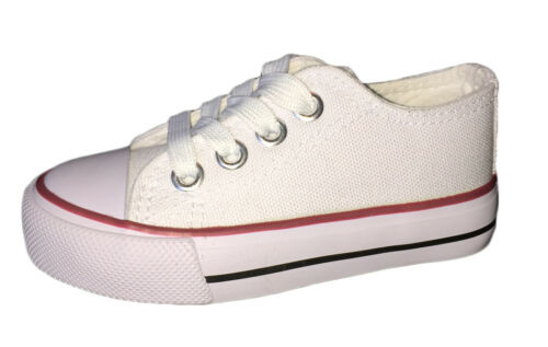 New Baby Toddler Boys Girls Low Classic Canvas Tennis Shoes Kids Skater Sneakers