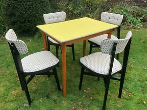 Vintage 1950s Formica Dining Table Chairs Ebay