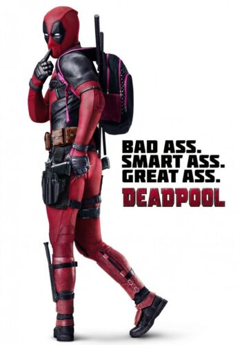 DEADPOOL Movie PHOTO Print POSTER Film Ryan Reynolds Bad Ass Glossy Art 002