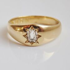 Antique Victorian 18ct Gold Diamond Solitaire Ring (0.30cts) c1878; Size 'M 1/2'