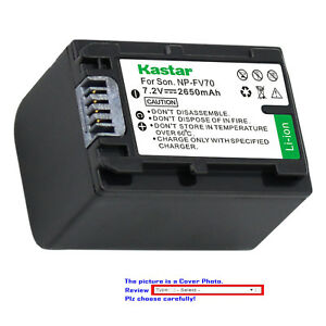 Kastar-Replacement-Battery-for-Sony-NP-FH70-NPFH70-amp-Sony-HXR-MC1-HDR-SR12