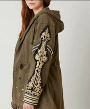 NWT Free People Golden Quills Military Parka,jacket. Color Moss  Size M