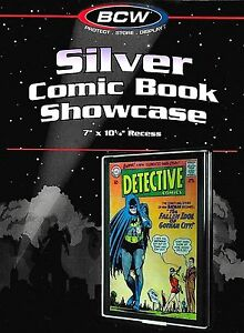 Silver Comic Showcase Display Case - Wall Mount Display Frame BCW