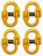 4-pack-9-32-034-Grade-80-Mechanical-Coupling-Link-2-Ton-4000-lbs-WLL miniatuur 1