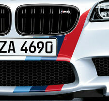BMW OEM Performance F10 M5 Front & Rear Tri Color M Stripe Decal Set New