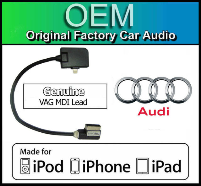 Audi iPhone 5 lead, Genuine Audi A4 AMI Lightning cable for Apple iPod iPad