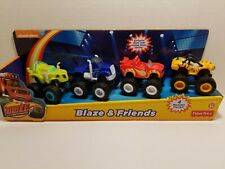 Fisher Nickelodeon 4 Pcs Blaze The Monster Machines Vehicle Kids