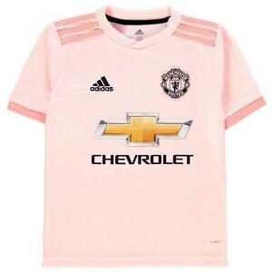 98ec5a8946a Details about adidas Kids Manchester United Away Shirt 2018 2019 Junior  Domestic Short Sleeve