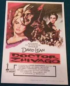 Details about Doctor Zhivago (1965) Shari Christie Original Movie Poster  Spanish Herald