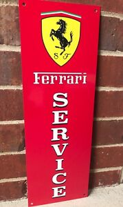 Ferrari Italian Racing Metal Garage Sign Reproduction