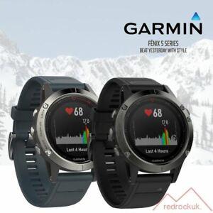 Garmin-Fenix-5-Multisport-GPS-Sports-Watch-HRM-Granite-Blue-Slate-Grey