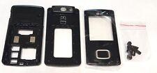 LG KG800 Mobile Phone Slider Housing Case Black Shiny Plastic Replacement OEM