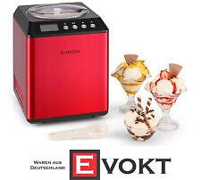 Klarstein 10028874 Vanilla Sky Ice Cream Machine Compressor 2L Red Genuine New