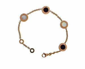 Bvlgari-Bvlgari-350641-onyx-amp-mother-of-pearl-element-bracelet-18k-rose-gold