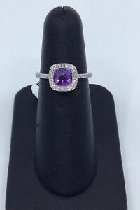Gabriel-amp-Co-14K-White-Gold-Amethyst-and-0-25-Ct-Diamond-Halo-Ring