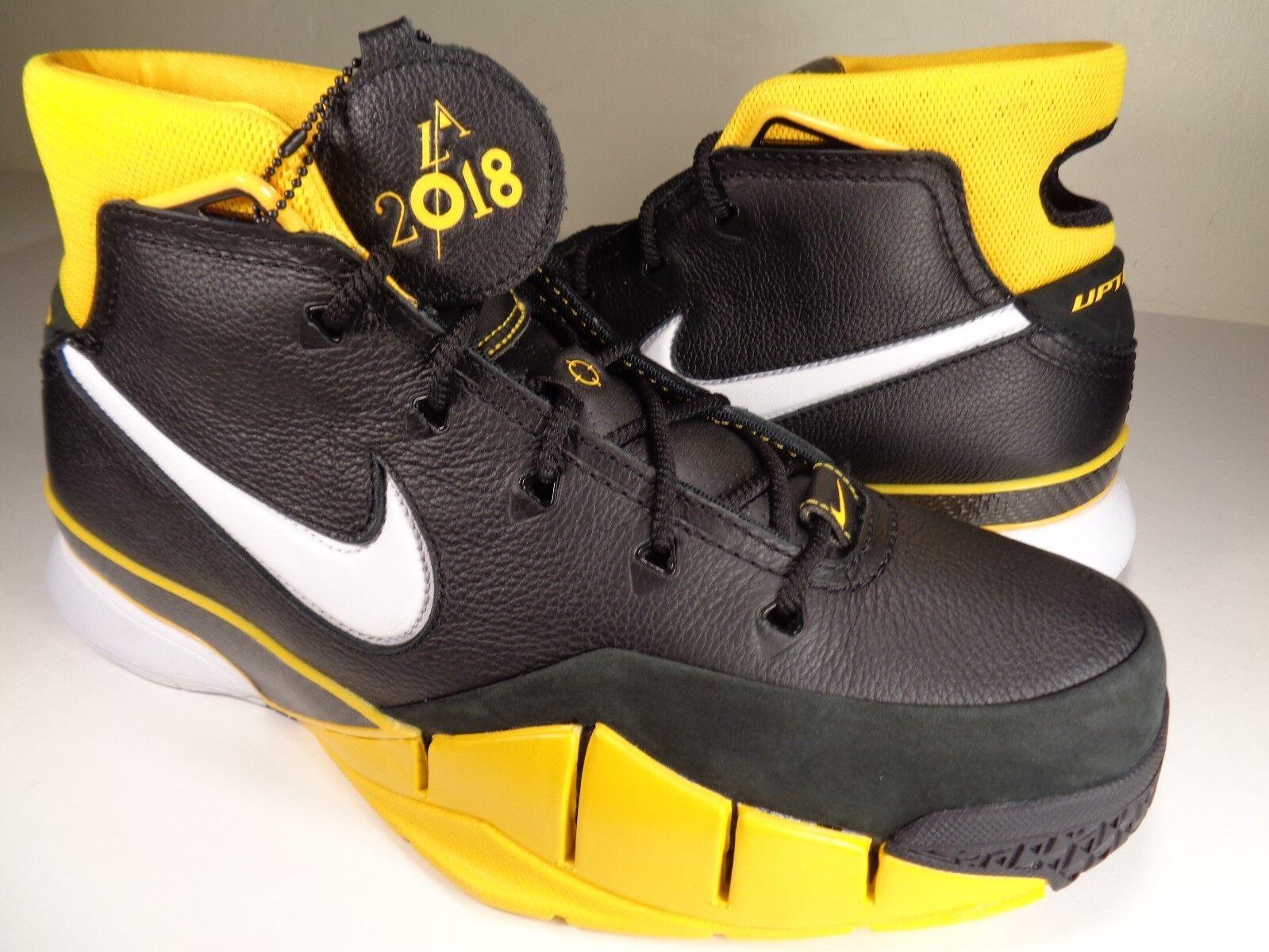 Nike Kobe Kobe Kobe 1 Prossoro Del Sol nero giallo bianca Varsity Maize SZ 11.5 (AQ2728-003) 8ffb3a
