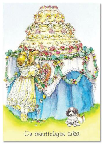 Little Cut Girl Happy Birthday  Gift Modern Postcard ARTIST Lisi Martin NEW